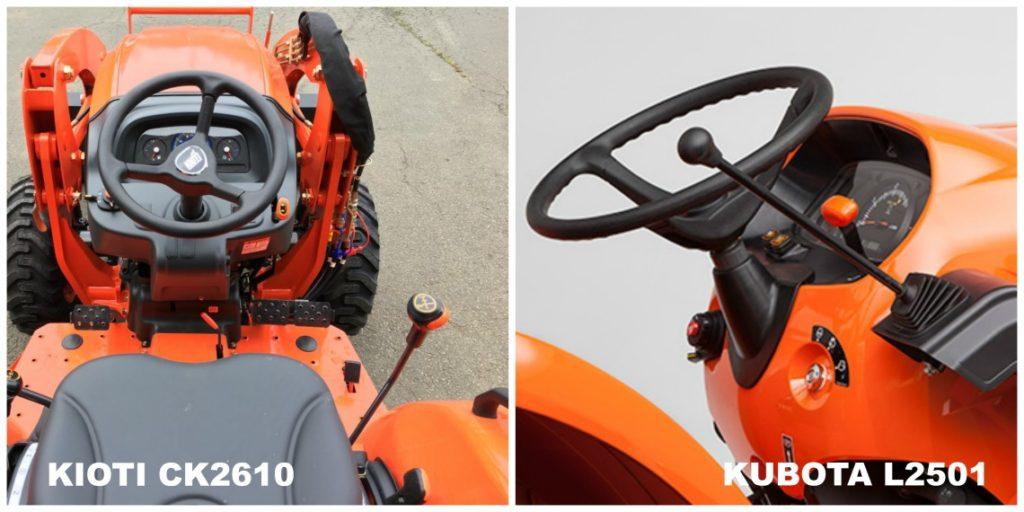 kioti ck2610 vs kubota l2501 loader control