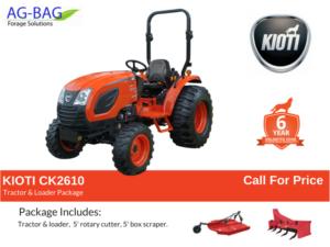kioti ck2610 basic package deal